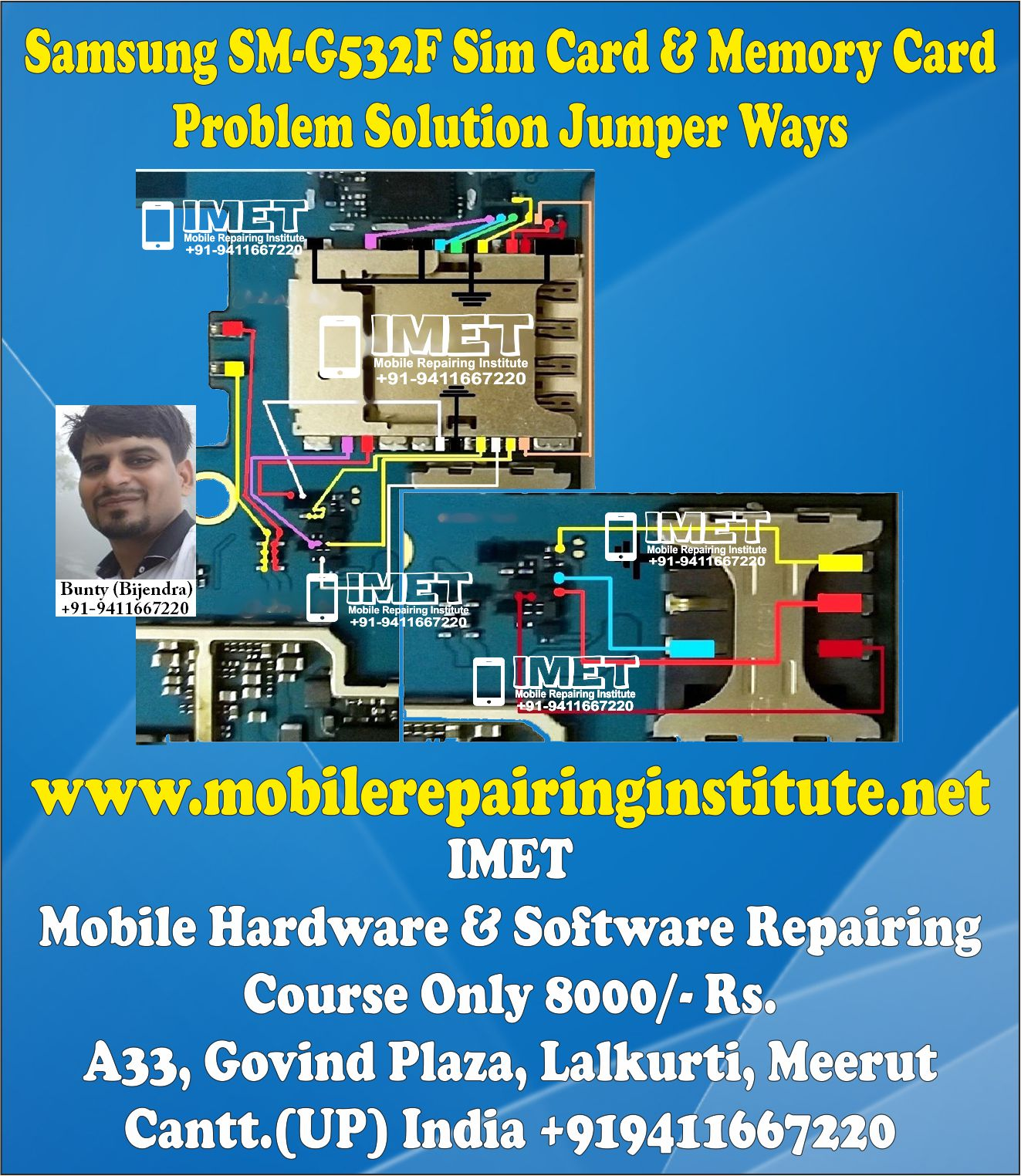 Samsung SM-G532F Sim Card & Memory Card Problem Solution
