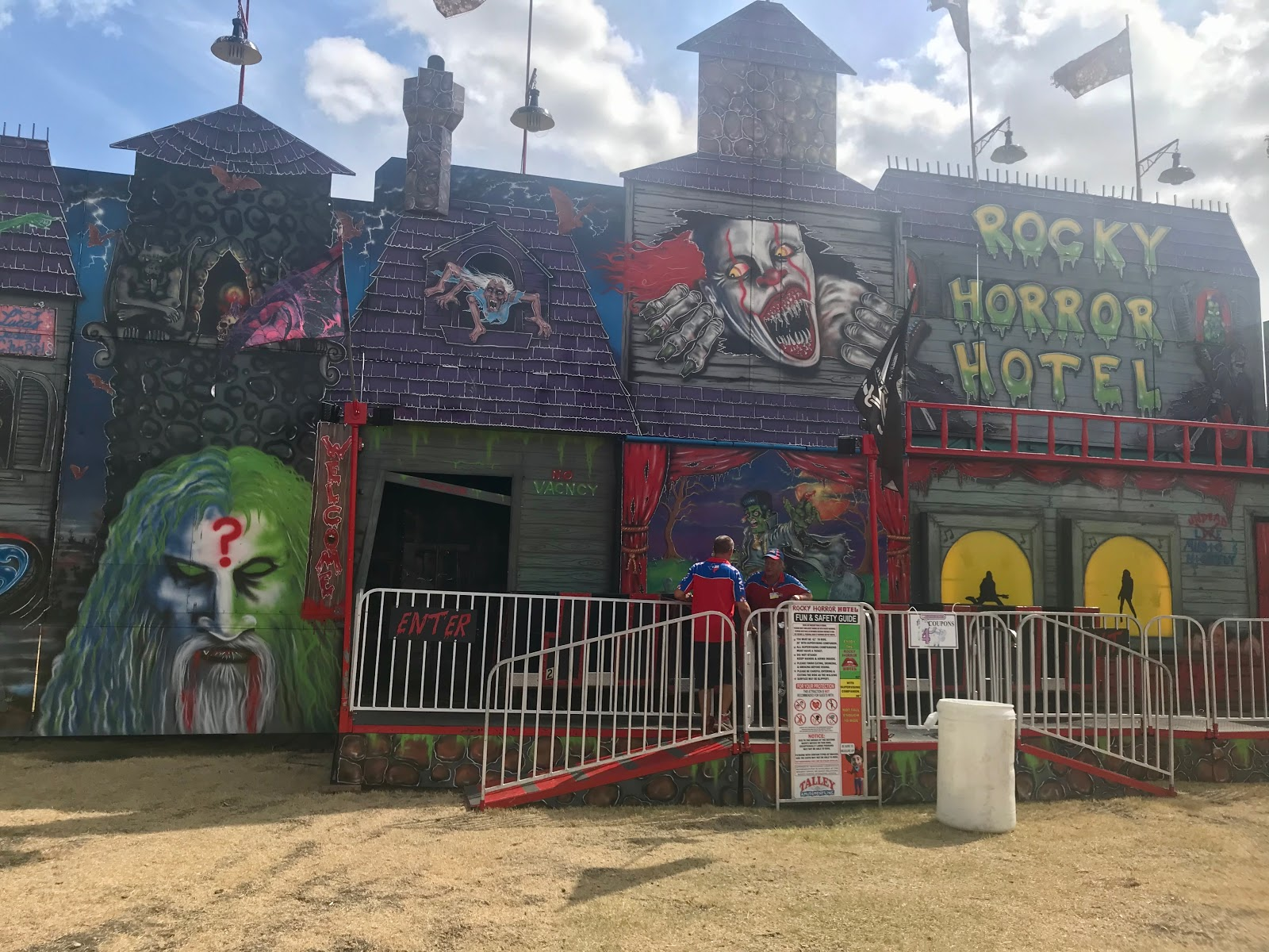 Image: Haunted House at Addison Texas Octoberfest 2019. Family Day Out: Soaking Up The Sun, Eating Junk Food And Capping Off Summer's End!