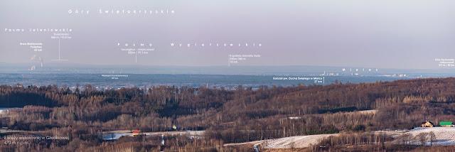 Dalekie obserwacje Gór Świętokrzyskich.Po drodze Połaniec, Mielec z Głobikowej