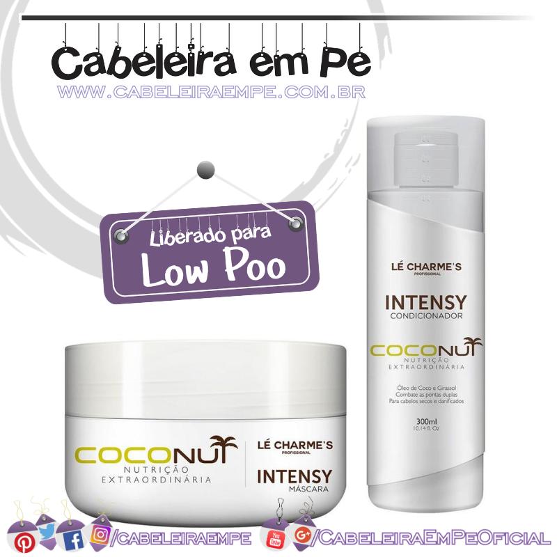 Condicionador e Máscara Intensy  Coconut - Lé Charme's (Low Poo)