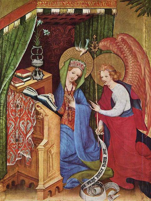 Anunciação, Konrad von Soest, c 1422