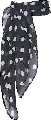 Pola Dot 1950's Vintage Style Sheer Chiffon Scarves