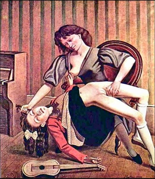 Aula de Violão - Balthus e sua fixação por garotas e gatos ~ Pintor francês