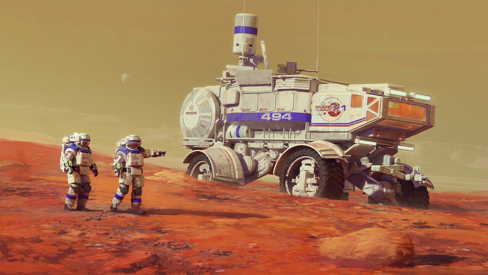 Illustration of mars exploration