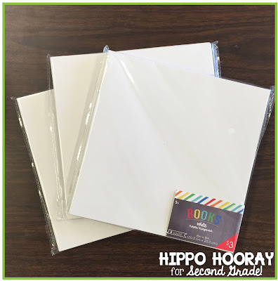 These $3 packs of blank books from the Target Dollar Spot are the perfect place for students to make a poetry anthology!
