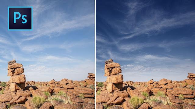 Обработка неба в Фотошопе
