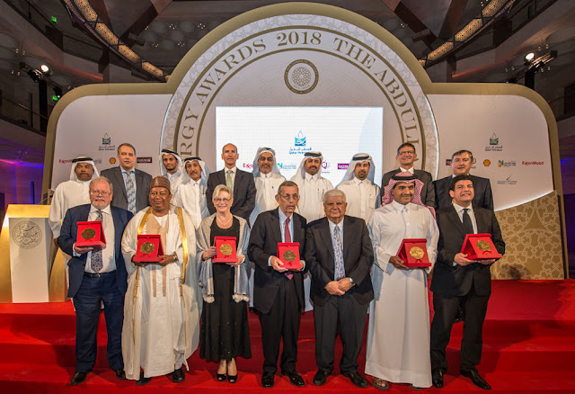Image Attribute: The 2019 Selection Committee for the 7th Abdullah Bin Hamad Al-Attiyah International Energy Awards as the last year's winners.