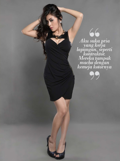 Gege Fransiska – Model Hot Peserta Miss Popular Maret 2015