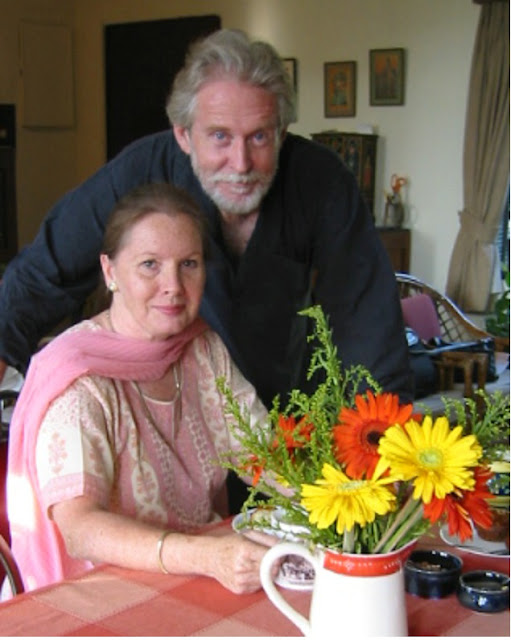 tom alter and  his wife Carol, son Jamie and daughter Afshaan.