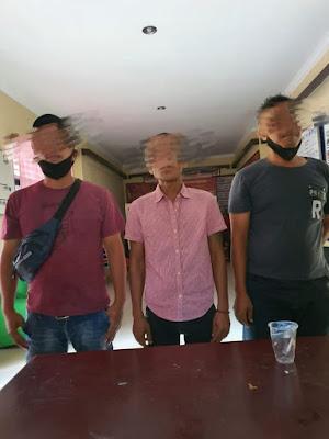 Pelaku Tiga Orang Yang Mengaku Anggota SPSI Diringkus Polsek Medan Area Diduga Terkait Pungli