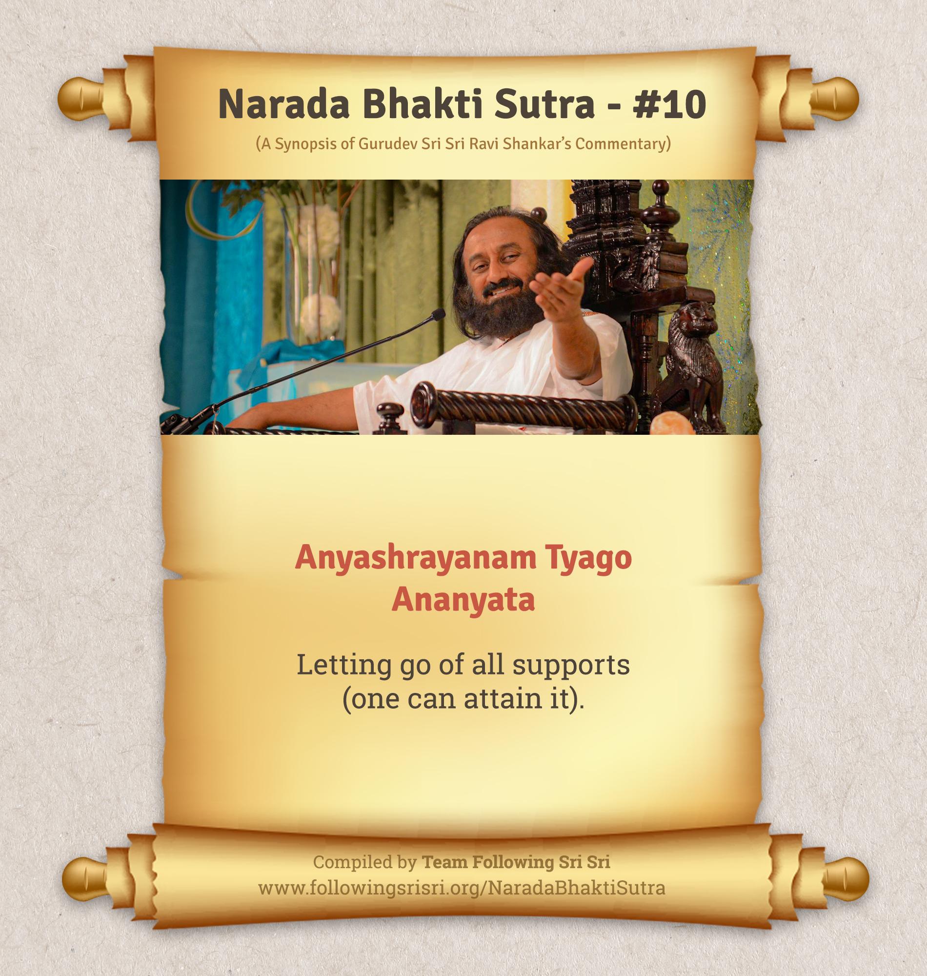 Narada Bhakti Sutras - Sutra 10