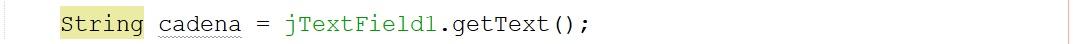 Promedio de una cadena ingresada en JTextField