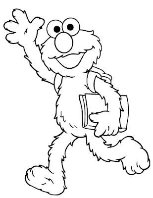 Gambar Mewarnai Elmo - 8