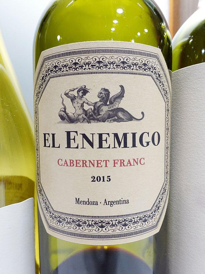 El Enemigo Cabernet Franc 2015 (89 pts)