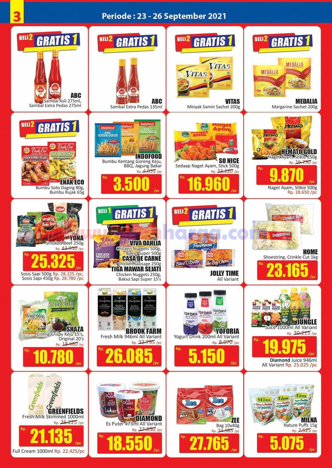 Katalog Promo JSM Hari Hari Swalayan Weekend 23 - 26 September 2021 3