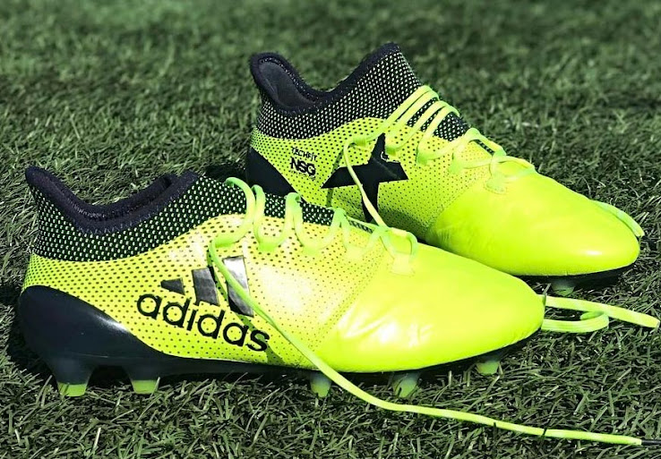 Included in the so-called Adidas Ocean Storm pack, these bright yellow Adidas X 17.1 Leather ...