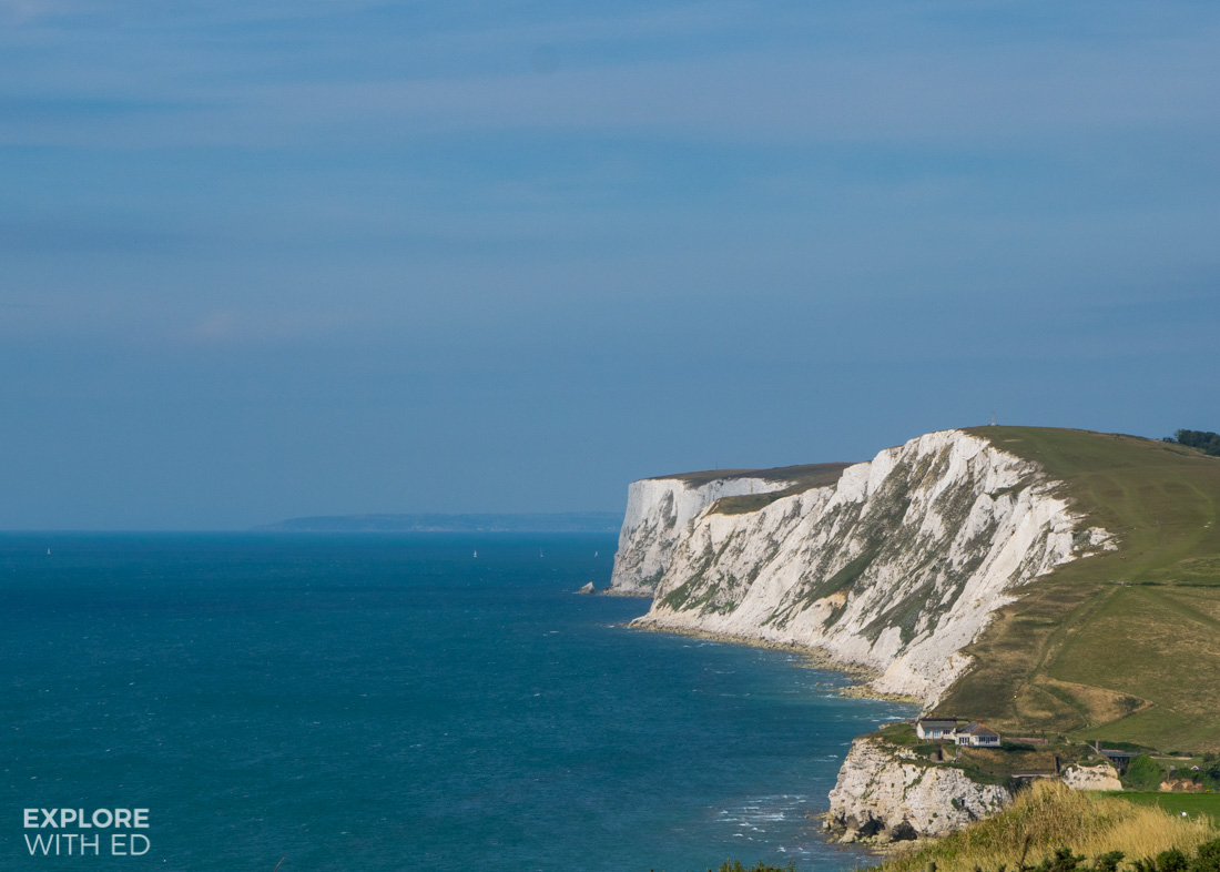 White cliffs on the Isle of Wight