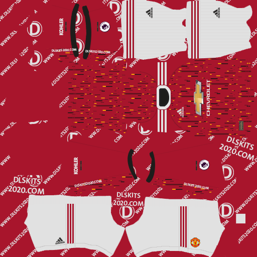 Manchester United 2020-2021 Kit by adidas kits dream league soccer 2020 (home)