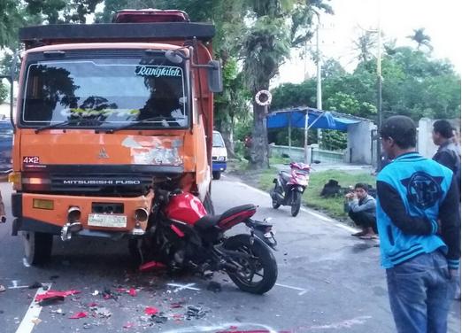Ninja Warrior vs Truk Laga Kambing, Brigadir Roy Jefry Manik Tewas Di Siantar