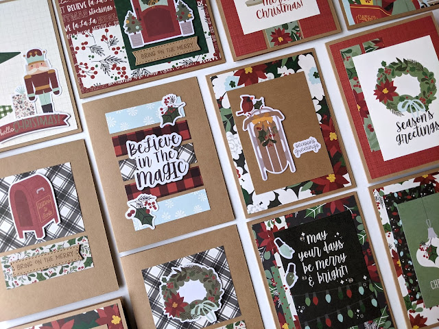 Simple Stories Jingle All the Way Christmas Cards by Jess Crafts