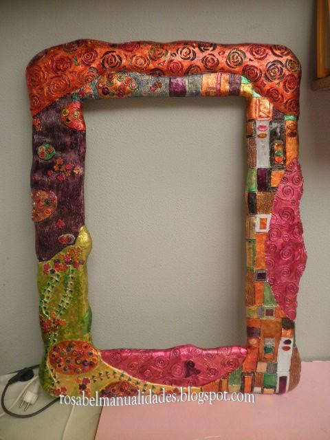 Rosabel manualidades marco para espejo - Hacer marcos para espejos ...
