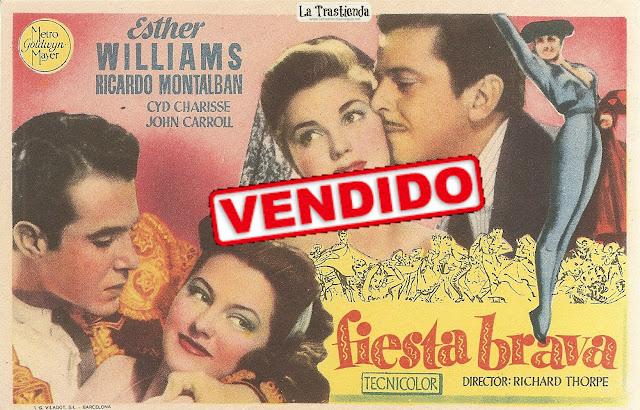 Programa de Cine - Fiesta Brava - Esther Williams - Ricardo Montalbán - Cyd Charisse