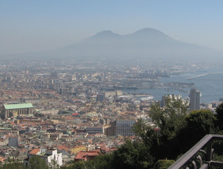 Living in Vomero, Francis would have enjoyed spectacular views over Naples towards Vesuvius