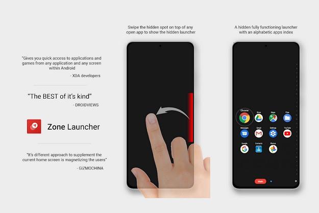 Zone Launcher - Μία νέα δωρεάν εφαρμογή για γρήγορη εκκίνηση εφαρμογών σε Android