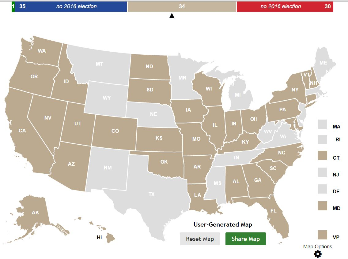 You Might Notice A Trend March - Us electoral map blank 2016