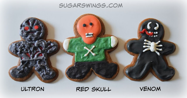 Ultron Red Skull Venom cookies
