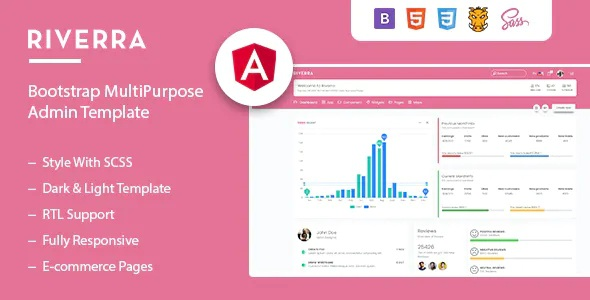 Angular + HTML Admin Template