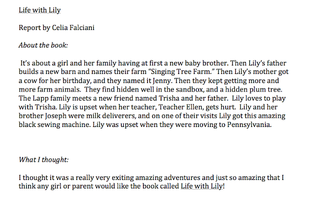 Celia's review of Life with Lily by Mary Ann Kinsinger and Suzanne Woods Fisher