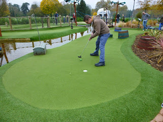 The Adventure Golf course at Hoebridge Golf Centre in Old Woking