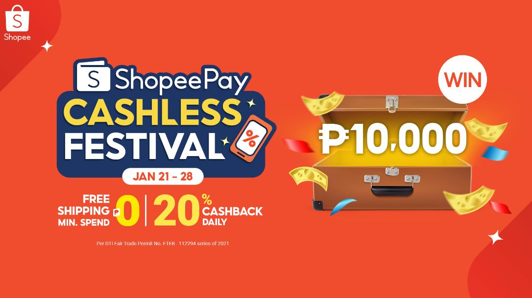 Top up and transfer for a chance to win Php 10,000 at ShopeePay
