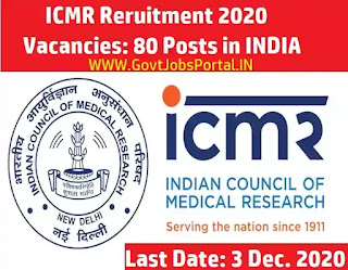 ICMR Assistant Recruitment for 80 Posts in India
