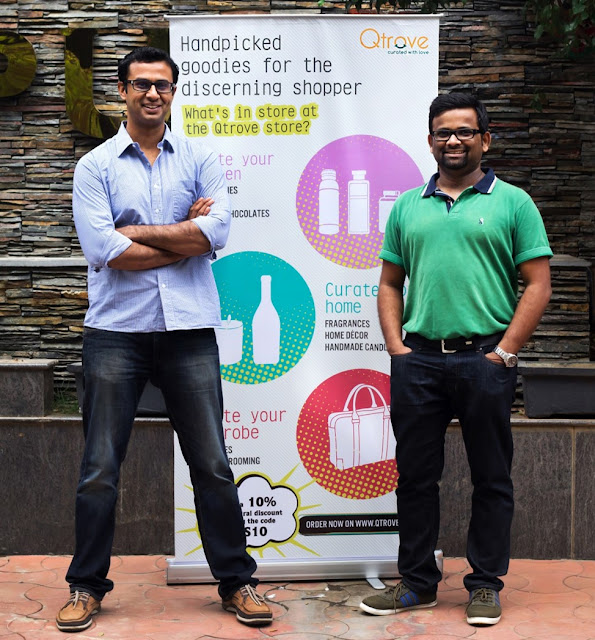 Mr. Vinamra Pandiya (Ex-COO Tastly Khana) and Mr. Prashanth Nagarajan (Ex AVP – Grofers) recently announced the launch of their latest venture, Qtrove.com in Bangalore.