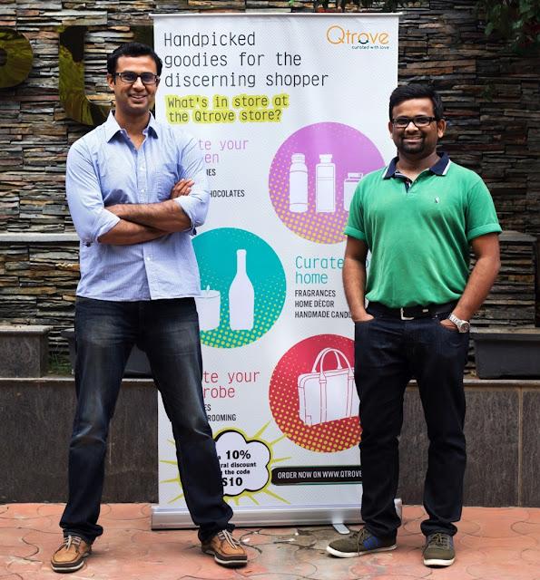 Mr. Vinamra Pandiya (Ex-COO Tastly Khana) and Mr. Prashanth Nagarajan (Ex AVP – Grofers) recently announced the launch of their latest venture, Qtrove.com in Bangalore.