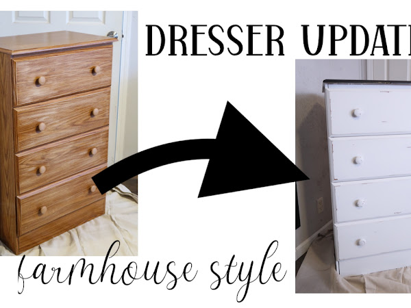 DIY Dresser Update - Plain to Farmhouse Style