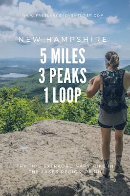 New Hampshire Lake region hike