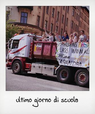 Stoccolma con i ragazzi, festa su un camion