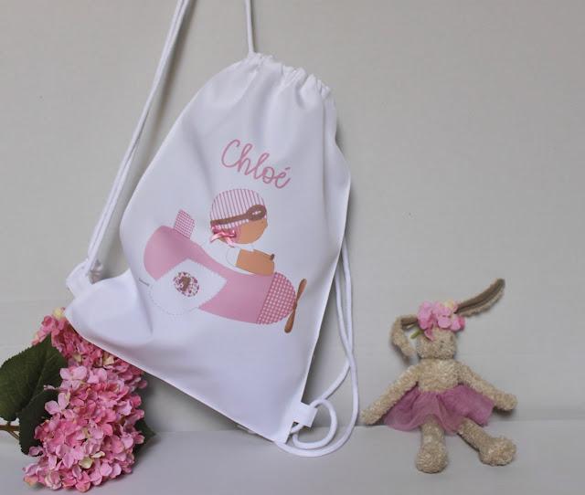 mochila infantil impresa personalizada con nombre