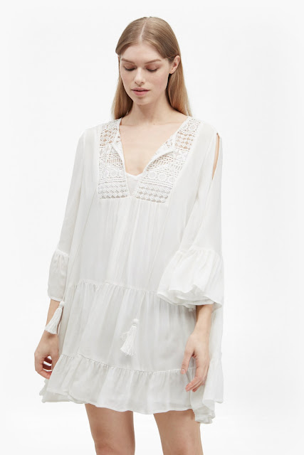 french connection gypsy dress, white gypsy dress,