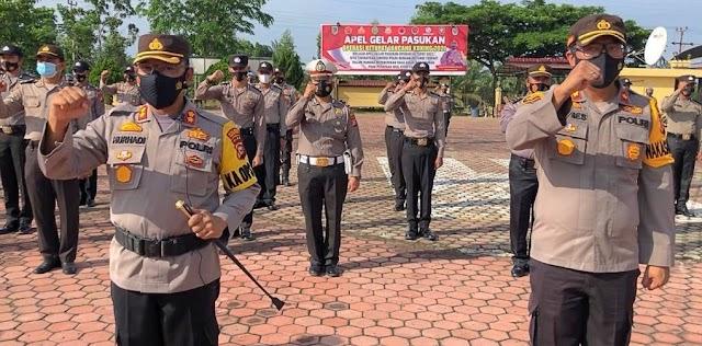 Kapolres Rohil : Penandatanganan Pakta Integritas Anti Narkotika Personil Adalah Peringatan Keras.