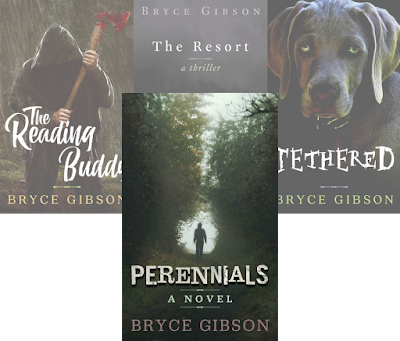 Covers from County Line Horror series by Bryce Gibson