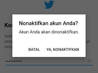 Cara menonaktifkan akun Twitter secara permanen lewat hp