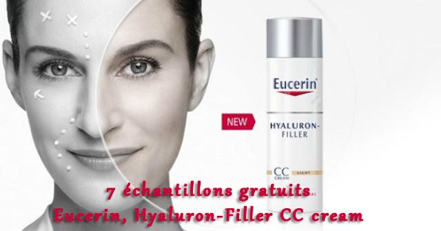 7 échantillons gratuits Eucerin Hyaluron-Filler CC cream