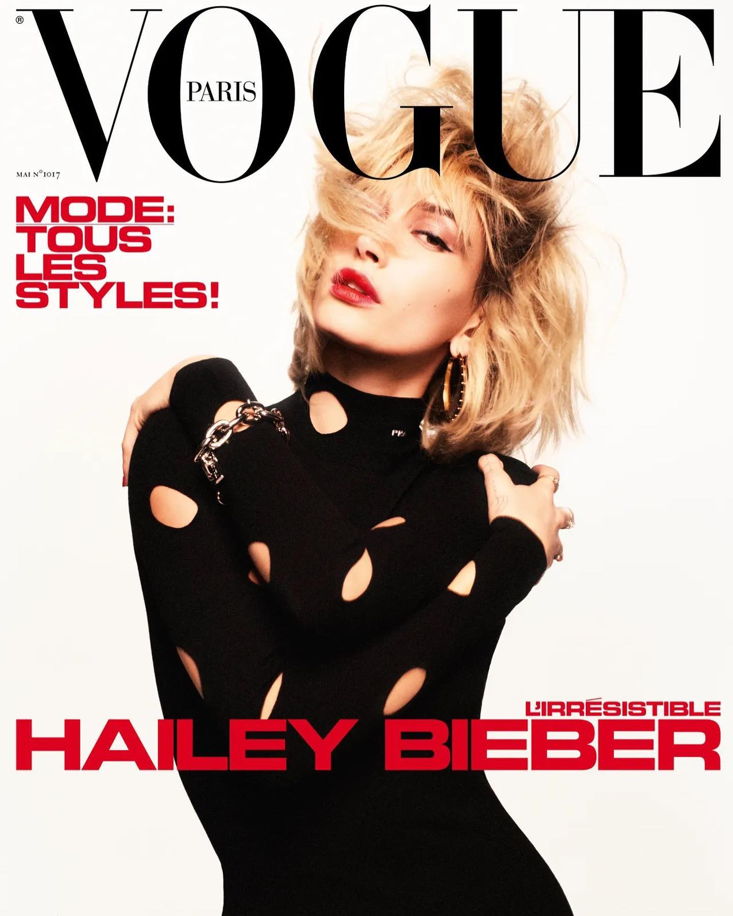 Hailey Bieber covers Vogue Paris May 2021