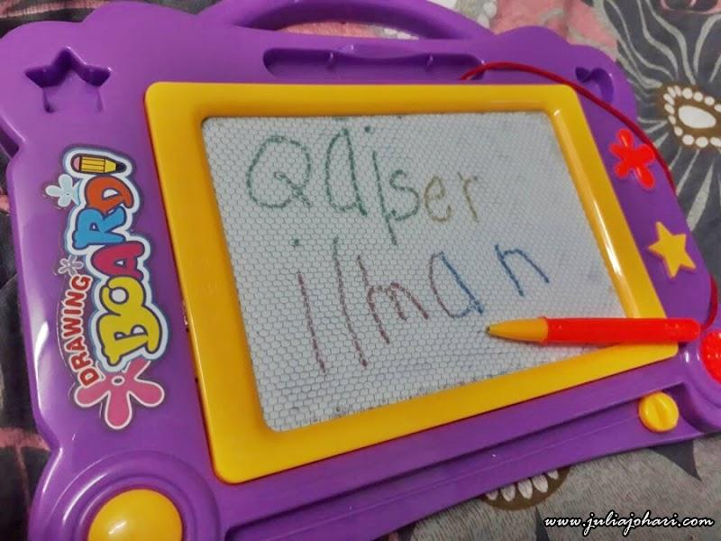Latih Anak Mahir Tulis Nama Sendiri