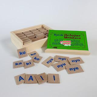 Kotak Belajar Membaca Mainan Kayuku