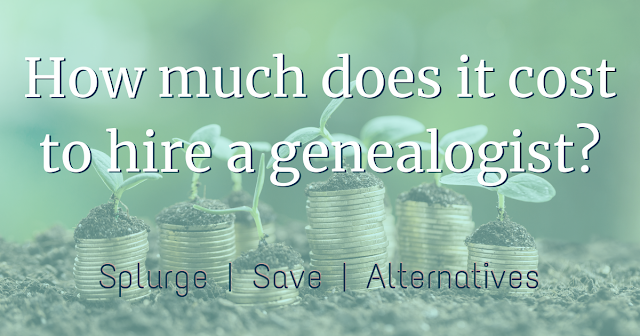 How much does genealogy cost? You know it costs money to hire a professional. Have you considered how much it costs to do your own research?